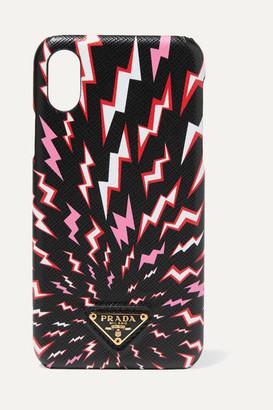 Prada Printed Textured-leather Iphone X/ Xs Case - Black