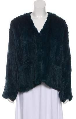 Elizabeth and James Knit Fur Jacket