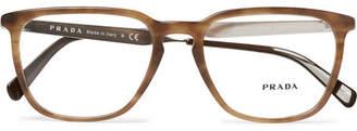 Prada D-Frame Tortoiseshell Acetate And Silver-Tone Optical Glasses