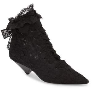 Saint Laurent Blaze Embellished Pointy Toe Bootie