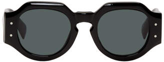 Dries Van Noten Black Linda Farrow Edition 174 C1 Angular Sunglasses