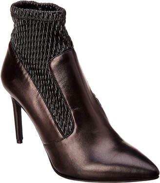 Karen Millen Stretch Leather Bootie