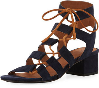 Frye Chrissy Asymmetric Lace-Up Ghillie Sandal $278 thestylecure.com