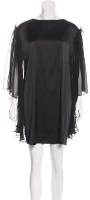 Thomas Wylde Silk Sheer-Accented Dress