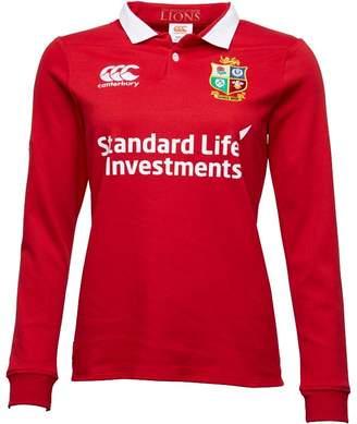 Canterbury of New Zealand Womens Lions Vapodri Matchday Classic Long Sleeve Jersey Tango Red