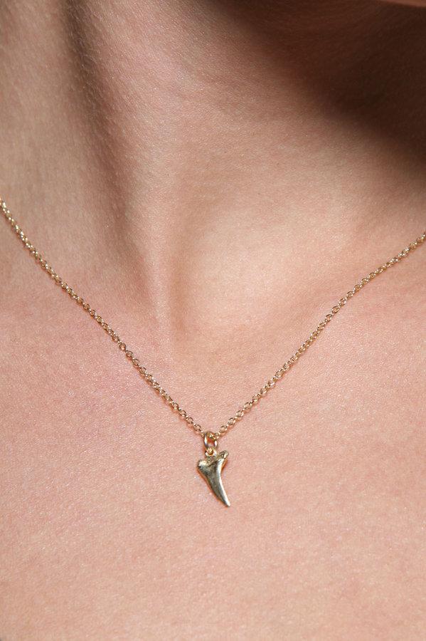 Christie Martin Jewelry Sharktooth Necklace in 14K Gold