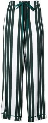 Oscar de la Renta striped straight trousers
