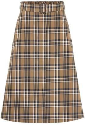 Max Mara S Jack plaid cotton skirt