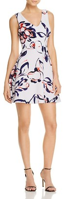 AQUA Floral Printed V-Neck Dress - 100% Exclusive $78 thestylecure.com