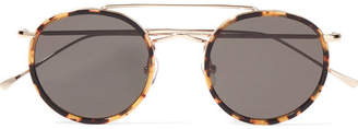 Allen Round-frame Acetate And Gold-tone Sunglasses - Tortoiseshell