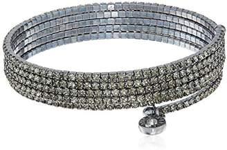 Anne Klein Hematite-Tone Multi-Row Flex Bracelet