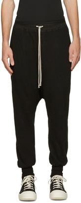 Rick Owens Drkshdw Black Prisoner Lounge Pants $615 thestylecure.com