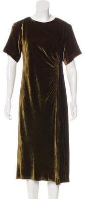 Dries Van Noten Velvet Midi Dress