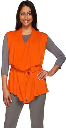 Draped Sweater Vest Open Womens Shopstyle