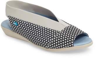 CLOUD 'Caliber' Peep Toe Leather Sandal