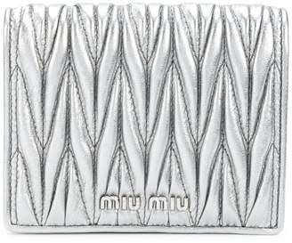 Miu Miu (ミュウミュウ) - Miu Miu マテラッセ 二つ折り財布