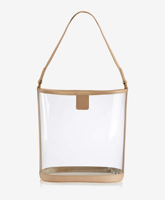GiGi New York Virginia Hobo Clear with Vachetta Trim