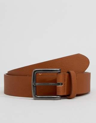 Asos Design DESIGN faux leather wide belt in tan