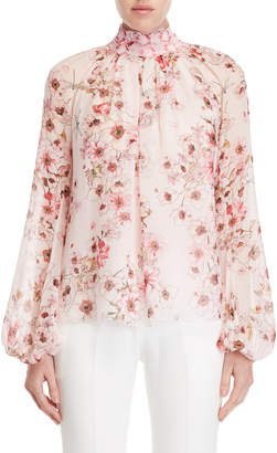 Giambattista Valli Floral Silk Top