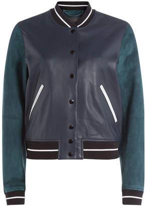 Rag & Bone Suede and Leather Varsity Jacket