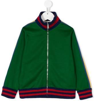Gucci Kids zip-up sweatshirt with octopus print