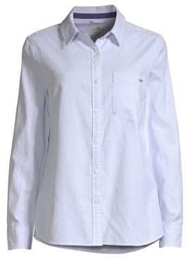 26eb5393 at Saks Fifth Avenue · Vineyard Vines Women's Vine Striped Oxford Shirt -  Blue - Size 4