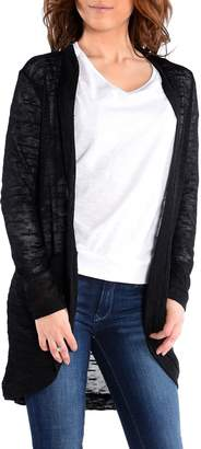 Dex Long Sleeve Mixed Yarn Long Front Open Cardigan