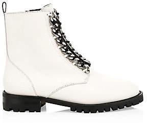 Rebecca Minkoff Women's Janyi Chain Leather Combat Boots