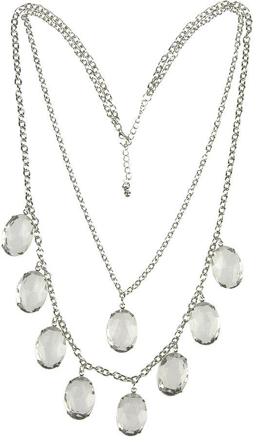 Open Back Rhinestone Necklace