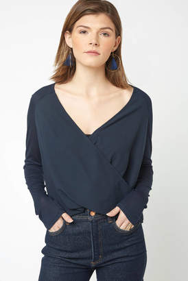 Black Swan Tonia Surplice Blouse