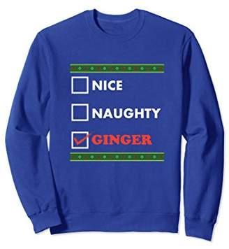 Nice Naughty Ginger Christmas Sweatshirt
