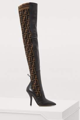 Fendi Rockoko heeled thigh-high boots