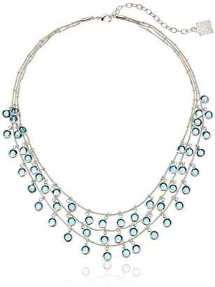 Anne Klein Beacon Silver-Tone/ Tone Shaky Necklace