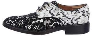 Givenchy Lace Round-Toe Oxfords