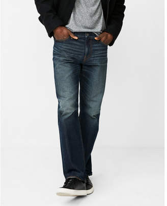 Express classic boot medium wash 100% cotton jeans