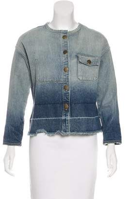 Current/Elliott Dip-Dye Denim Jacket