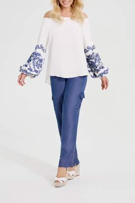 Katherine Barclay Embroidered Boho Blouse