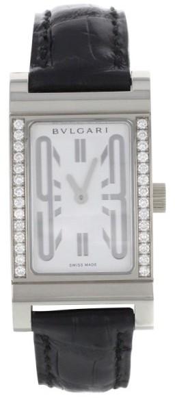 Bvlgari Bulgari Rettangolo RT W39 G Diamonds Quartz Womens Watch