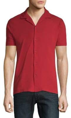 Orlebar Brown Short-Sleeve Cotton Button-Down Shirt