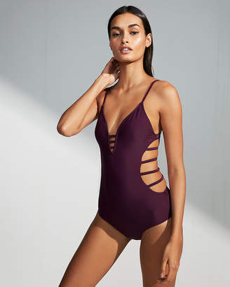 Express Strappy Open Back One-Piece Swimsuit
