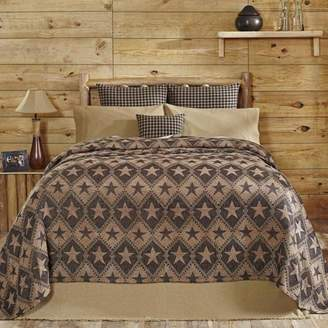 VHC Brands VHC Classic Country Primitive Bedding - Jefferson Star Chenille Woven Coverlet