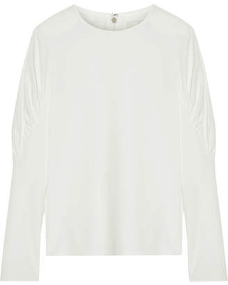 Tibi Florence Gathered Twill Top - Ivory