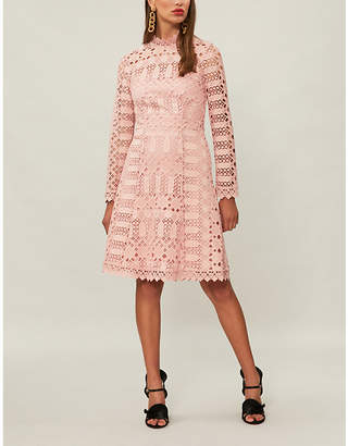 Temperley London Amelia geometric lace dress