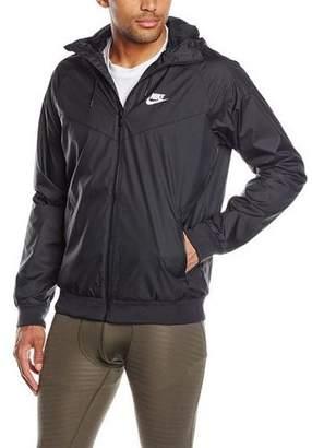 Nike Mens Windrunner Hooded Track Jacket Black/Black/White 727324-010