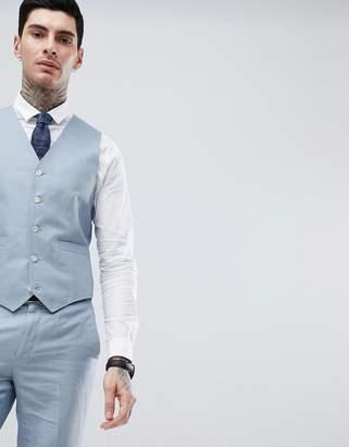 Gianni Feraud Wedding Slim Fit Plain Linen Vest