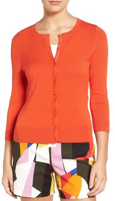 Women's Halogen Three Quarter Sleeve Crewneck Cardigan $46 thestylecure.com