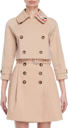 Atos Lombardini Cropped Trench Jacket