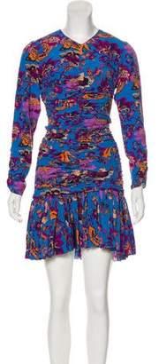 Etro Silk Ruched Dress