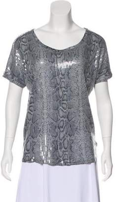MICHAEL Michael Kors Sequin Short Sleeve Top
