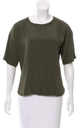 Theory Short Sleeve Silk Top